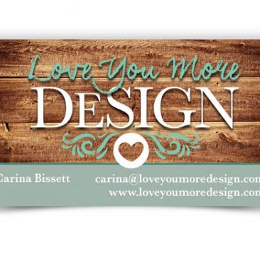Love You More DeSign Business Card