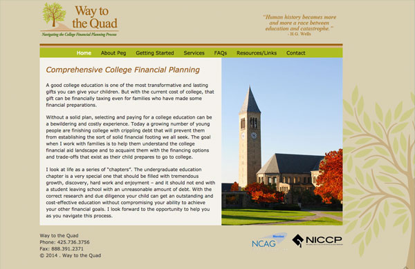 Way to the Quad College Financial Planning